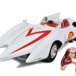 Speed Racer Mach 5 With Chim Chim Monkey 1/18 Diecast Car Model by Autoworld