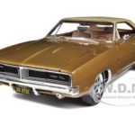1969 Dodge Charger R/T SE 440 Bronze Metallic 4spd 1/18 Diecast Model Car by Autoworld