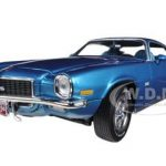 1971 Chevrolet Camaro SS350 SS 350 Mulsanne Blue 4spd L48 Turbo  Limited to 1250pc 1/18 Diecast Model Car by Autoworld