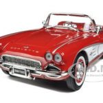 1961 Chevrolet Corvette Red 1961 Road & Track Cover Car Annual Road Test Limited to 1800pc 1/18 Diecast Model Car by Autoworld