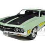 1971 Ford Torino Cobra Code H Light Green 1/18 Diecast Model Car by Autoworld