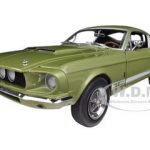 1967 Ford Shelby Mustang GT500 GT 500 Light Green  Limited to 1500pc 1/18 Diecast Model Car by Autoworld