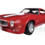 1972 Pontiac Firebird Trans Am Cardinal Red  Limited to 1500pc 1/18 Diecast Model Car by Autoworld