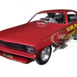 Big John Mazmanian 1972 Plymouth Cuda Funny Car Limited Edition to 750pcs 1/18 Model Car by Autoworld