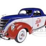 1937 Lincoln Zephyr Coupe Pepsi Cola Limited to 1500pc 1/18 Diecast Model Car by Autoworld