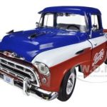 1957 Chevrolet Cameo Pickup Truck Pepsi Cola  Limited To 1250pc  1/18 Diecast Model Car by Autoworld