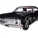 1967 Chevrolet Chevelle SS 396 Tuxedo Black with Red Stripes 1/24 Diecast Model Car by Autoworld