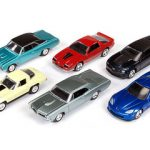 Autoworld Muscle Cars Release B Set Of 6 Cars 1/64 Diecast Model by Autoworld