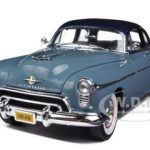 1950 Oldsmobile Rocket 88 Club Coupe Crest Blue Grease Tribute Car 1/18 Diecast Model Car by Autoworld