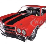 1970 Chevrolet Chevelle SS 454 Red Jack Reacher Limited to 1250pc 1/18 Diecast Car Model by Autoworld