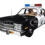 1975 Dodge Monaco Police Pursuit California Highway Patrol CHP CHiPS Season (1977-83) Limited Edition to 1002pcs 1/18 Diecast Model Car by Autoworld