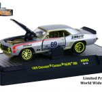Auto Mods 1969 Chevrolet Camaro RS SS 396 and 1969 Chevrolet Camaro Z/28 3 Cars Set WITH CASES 1/64 Diecast Models by M2 Machines