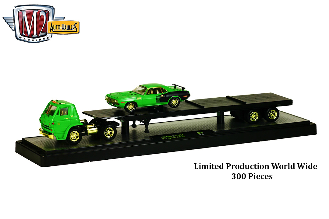 Auto_Haulers_Release_16_CHASE_1969_Dodge_L600_COE_and_1971_Plymouth_Cuda_383_Limited_Production_World_Wide_300_Pieces_Final_Image__92084