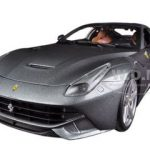 Ferrari F12 Berlinetta Grey 1/18 Diecast Car Model by Hotwheels