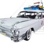 1959 Cadillac Ambulance Ecto-1 From Ghostbusters 1 Movie 1/18 Diecast Car Model by Hotwheels