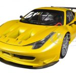 Ferrari 458 Italia GT2 Yellow 1/18 Diecast Car Model by Hotwheels