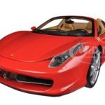 Ferrari 458 Spider F1 Red Elite Edition 1/18 Diecast Car Model by Hotwheels