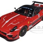 Elite Ferrari 599XX 599 XX Evo #11 Red 1/18 Diecast Car Model by Hotwheels