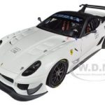 Elite Ferrari 599XX 599 XX Evo White 1/18 Diecast Car Model by Hotwheels