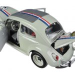 1963 Volkswagen Beetle The Love Bug Herbie #53 Elite Edition 1/18 Diecast Car Model by Hotwheels