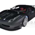 Ferrari 458 Italia GT2 Matt Black Elite Edition 1/18 Diecast Car Model by Hotwheels