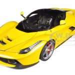Ferrari Laferrari F70 Hybrid Elite Edition Yellow 1/18 Diecast Car Model by Hotwheels