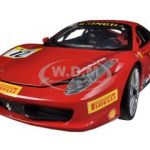 Ferrari 458 Challenge Red #12 1/18 Diecast Car Model by Hotwheels