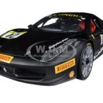 Ferrari 458 Challenge Matt Black #12 1/18 Diecast Car Model by Hotwheels