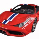 Ferrari 458 Speciale Red Elite Edition 1/18 Diecast Car Model by Hotwheels
