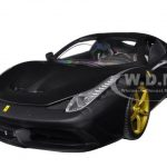 Ferrari 458 Speciale Elite Edition Matt Black 1/18 Diecast Car Model by Hotwheels