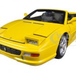 Ferrari F355 Spider Convertible Yellow Elite Edition 1/18 Diecast Car Model by Hotwheels