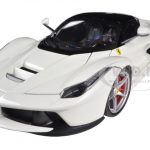 Ferrari Laferrari F70 Hybrid White 1/18 Diecast Car Model by Hotwheels