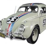 Volkswagen Beetle The Love Bug Herbie #53 1/18 Diecast Model Car by Hotwheels