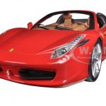 Ferrari 458 Italia Spider Red 1/24 Diecast Car Model by Hotwheels