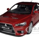 2010 Mitsubishi Lancer Evolution X Red  Limited Edition 1 of 700 Produced Worldwide 1/18 Diecast Model Car by Suntrade