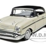 1957 Chevrolet Bel Air Cream 1/18 Diecast Car Model by Motormax