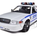 Ford Crown Victoria NYPD New York Police Car White 1/24 Diecast Model Car by Daron