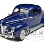 1940 Ford Deluxe Blue 1/18 Diecast Car Model by Motormax