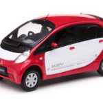 Mitsubishi i Miev White/Red 1/43 Diecast Model Car by Vitesse