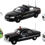Set of 6 Police Cars Release #4 1/43 Diecast Car Models by First Response
