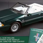 1990 Ford Mustang LX 5.0 7-UP Edition Convertible Deep Emerald Green Clear Coat Metallic Paint ( code PA) Limited Edition 1/18 by GMP