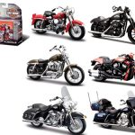 Harley Davidson Motorcycle 6pc Set Series 33 1/18 Diecast Models by Maisto