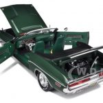 1970 Dodge Challenger Hemi Convertible Green Mecum sold car Limited to1500pc 1/18 Diecast Model Car by Greenlight