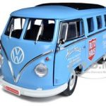 1962 Volkswagen Microbus Auto Haus Blue 1/18 Diecast Model Car by Greenlight