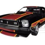 1978 Ford Mustang Cobra II Black Free Wheelin 1/18 Diecast Car Model by Greenlight