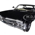 Deans 1967 Chevrolet Impala Sport Sedan Black 4 Doors Supernatural Join The Hunt (TV Series 2005) 1/18 Diecast Model Car by Greenlight