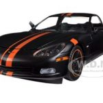 2009 Chevrolet Corvette C6 Z06 Black / Orange 1/24 Diecast Car Model by Greenlight