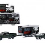 2015 Ford F-150 and 1968 Ford Mustang GT with Enclosed Car Hauler Set Bullitt Movie 1/64 Diecast Model Cars by Greenlight