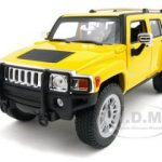 Hummer H3 Yellow 1/18 Diecast Model Car by Hotwheels