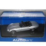 Jaguar E Type Roadster V12 Silver 1/43 Diecast  Model Car by Autoart